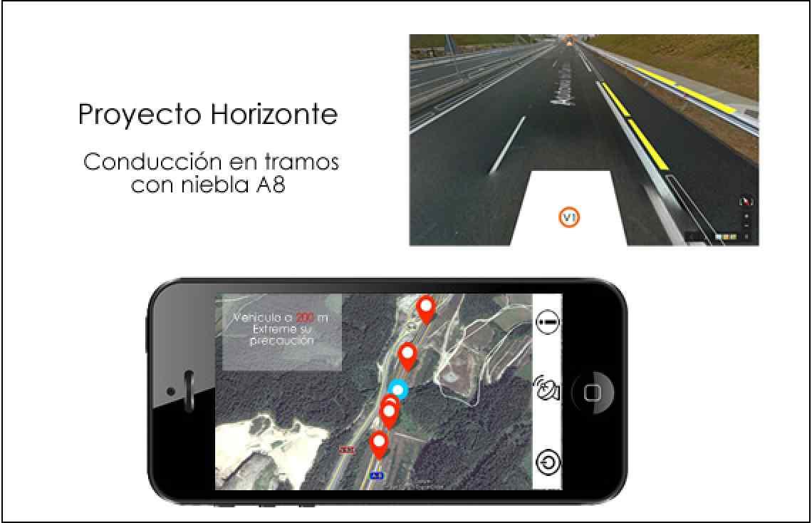 Imagen GPS movil conduccion niebla A8